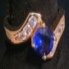 Superstar Universe, LLC Beautiful 14Kt Gold Synthetic Sapphire Cubic Zirconia WITH FREE SHIPPING
