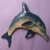Superstar Universe, LLC Dolphin Colorful IRON Metal Wall Art Sculpture Made In Haiti