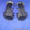 Superstar Universe, LLC Women's Flat Dressy Dana Buchman Black Patent Strap Buckle Sandals Size 6