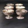 Superstar Universe, LLC Vintage Raimond Silver Plated Kiddush Cup Goblets Lot Of 6