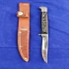 Superstar Universe, LLC Rare Vintage Weske USA Western Fixed Blade Wilderness Tool with Leather Sheath